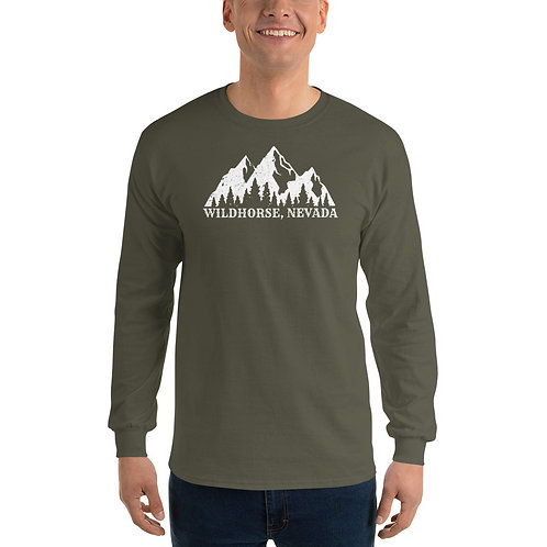 Long sleeve tee with our Wildhorse, Nevada design.