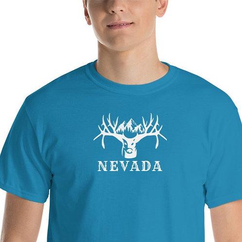 Tee with our custom Nevada buck design.