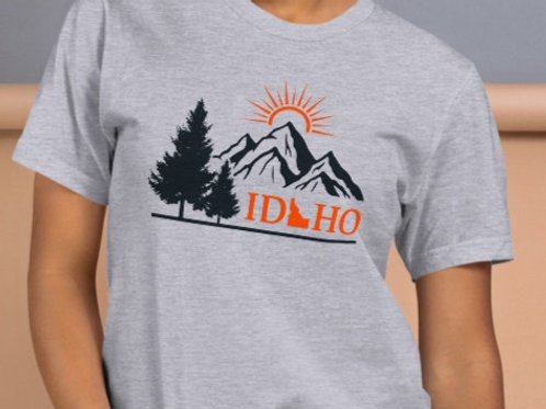 T-Shirt With our Idaho Mountain design and MADE IN THE USA!!