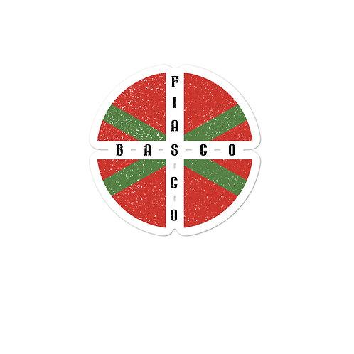 Bubble-free stickers with our BASCO FIASCO design.