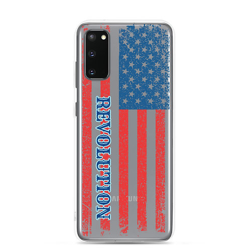 Samsung Case with our Grunge flag and Revolution design.