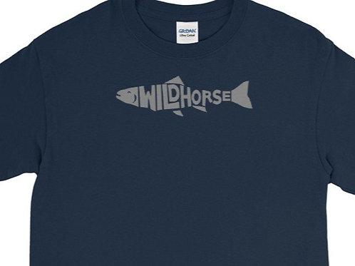 Long sleeve tee with our custom Wildhorse fish design.