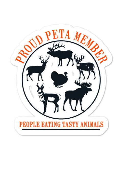 Bubble-free stickers with our PETA design.