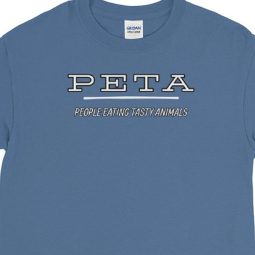 Long sleeve tee with our PETA design.