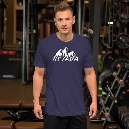 Short-Sleeve Unisex T-Shirt with our Nevada mountain design.