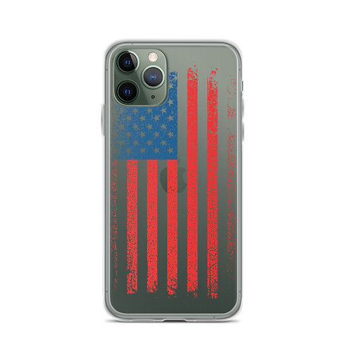 iPhone Case with our custom grunge flag design.