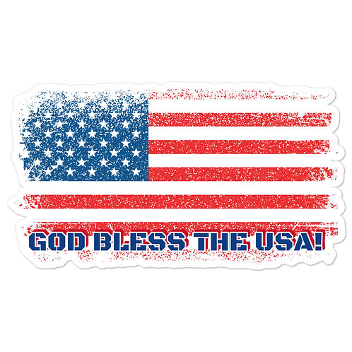 Bubble-free stickers with our custom patriotic design!