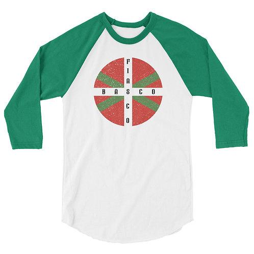 Raglan shirt with our custom Basco Fiasco flag design.