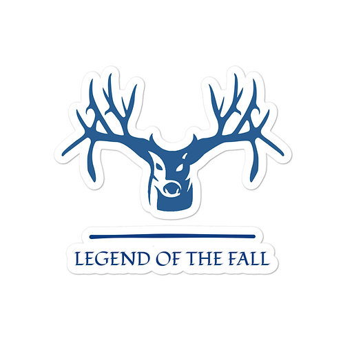 Custom sticker with our Legend of the Fall design.