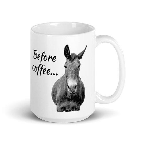 15 oz mug with our adorable mule design.