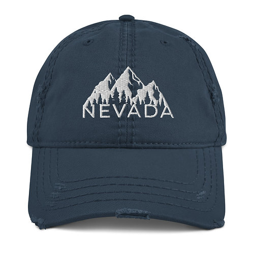 Distressed Dad Hat with our custom Nevada design.