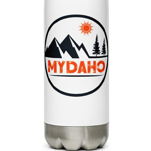 Stainless Steel Water Bottle with our custom MYDAHO design.