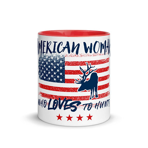 Mug with our custom American Woman Design.