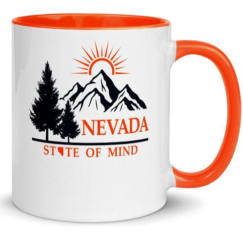 Colorful mug with our custom Nevada design.