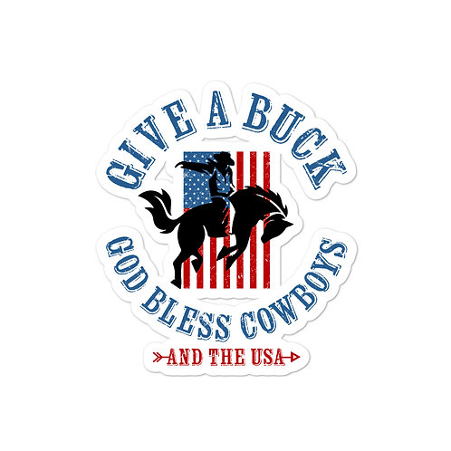 Bubble-free stickers with or custom patriotic design on it!
