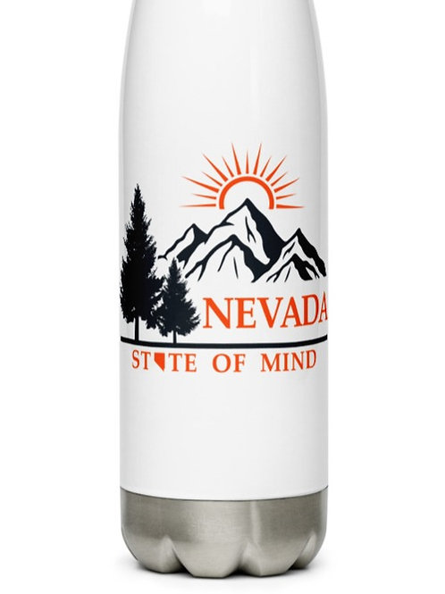 Stainless Steel Water Bottle with our custom Nevada design.