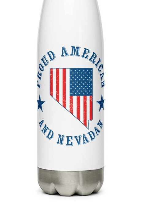 Stainless Steel Water Bottle with our Nevada flag design.