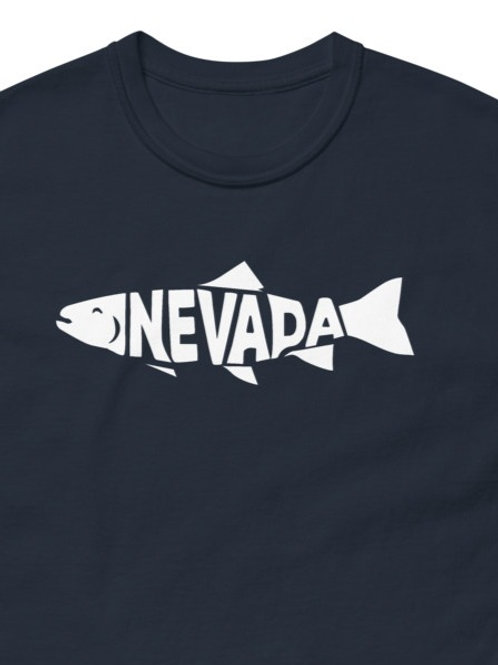 Comfy Tee with our custom Nevada fish on design.