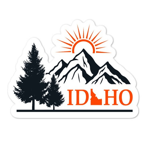 Bubble-free stickers with our IDAHO design.