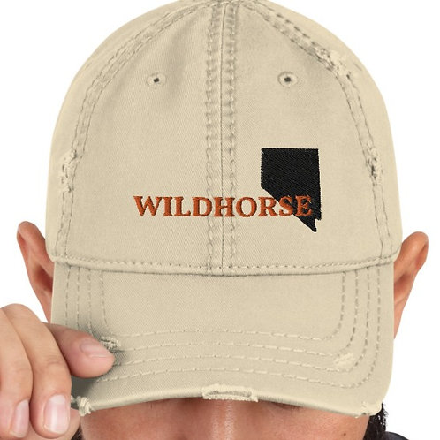 Distressed hat with our Wildhorse Nevada design.