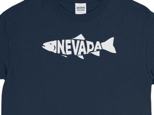 Long Sleeve Shirt tee with our custom Nevada fish design.