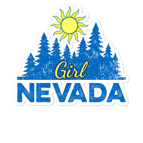 Bubble-free stickers with our custom Nevada Girl Design.