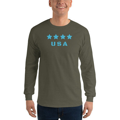 Comfy long sleeve Tee with our USA design.