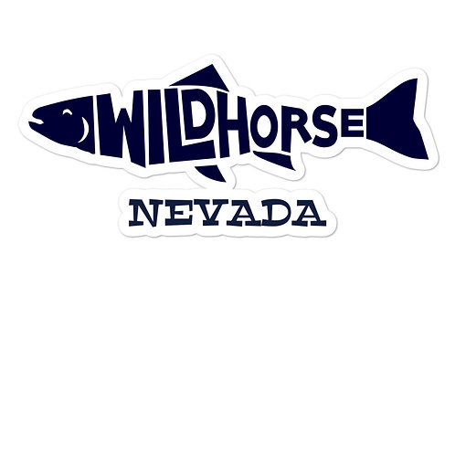 Bubble-free stickers with our Wildhorse Nevada fish design.