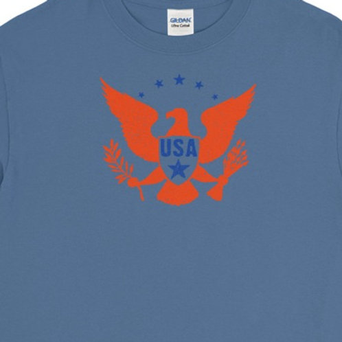 Long sleeve tee with our patriotic eagle design.