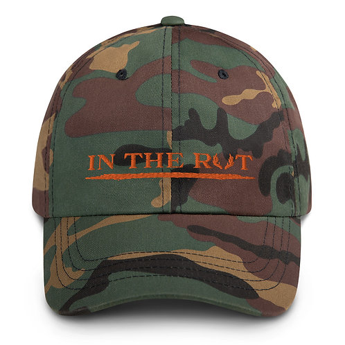 Dad hat boasts our awesome In the Rut design!