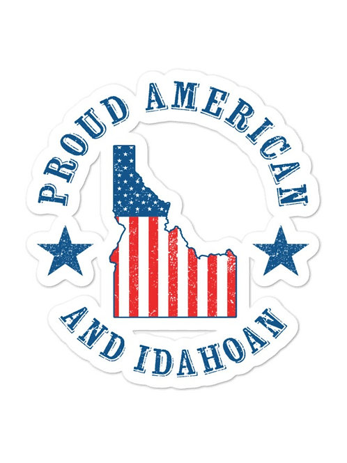 Bubble-free stickers with our PROUD IDAHOAN design.