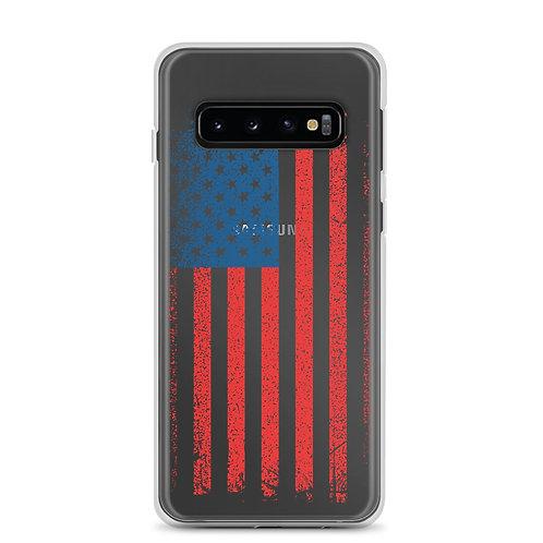 Samsung Case with our custom grunge flag design.