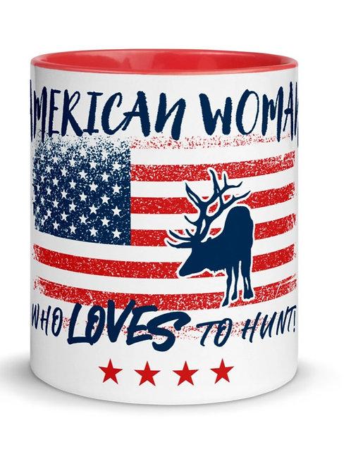 Mug with our custom American Woman Design.