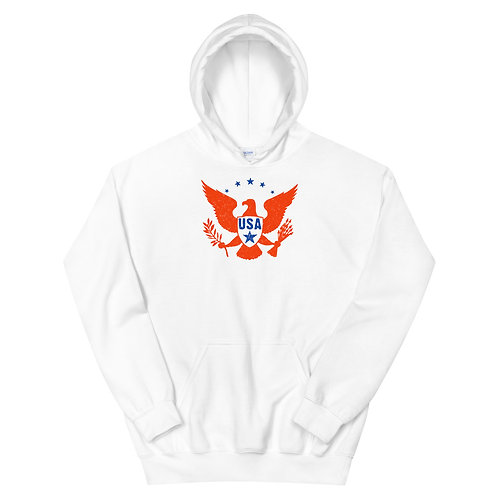 Unisex Hoodie with our patriotic eagle design.