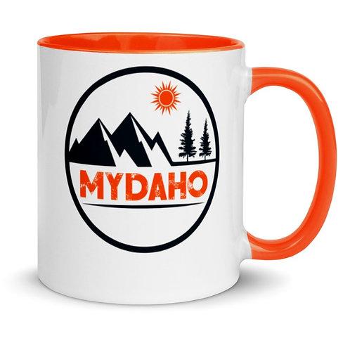 Colorful mug with our custom Idaho design.