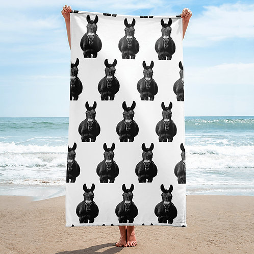 Beach towel with our adorable Smiling Mule all over it!!