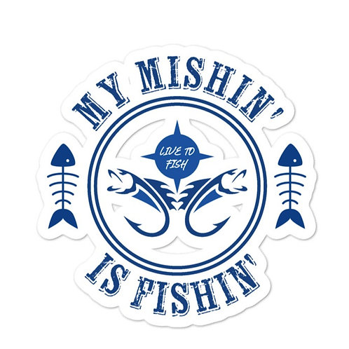 Bubble-free stickers with our fishing design on it!
