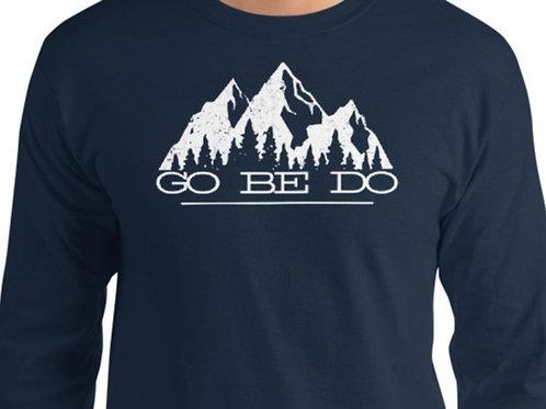 Long sleeve tee with our custom GO BE DO design.