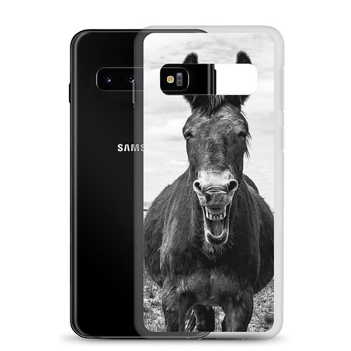 Samsung Case With our Smiling Mule on the back!