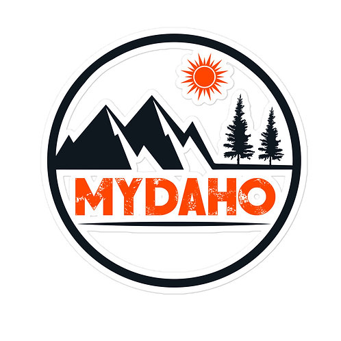 Custom sticker with our MYDAHO design on it.