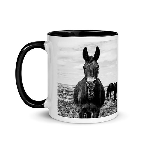 Mug with Color Inside With Our Adorable Mule!