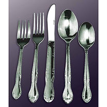 Barclay Flatware can be rented for $0.35 each piece.