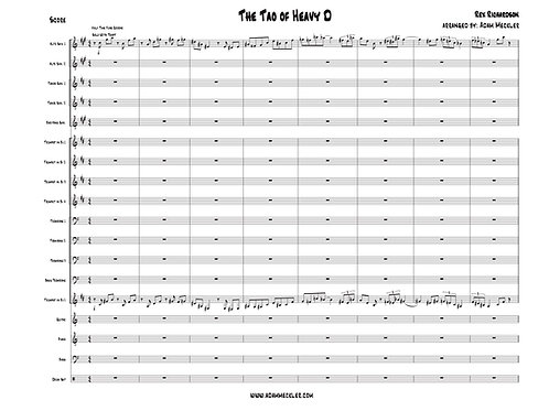 Tao of Heavy D [Score and Parts]