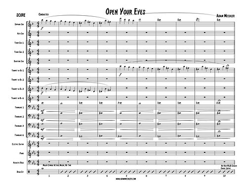 Open Your Eyes [Score and Parts]