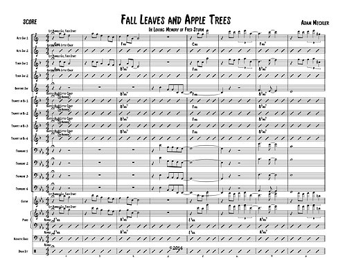 Fall Leaves and Apple Trees [Score and Parts]