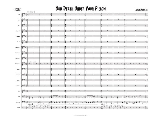 Our Death Under Your Pillow [Score and Parts]