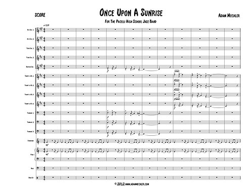 Once Upon a Sunrise [Score and Parts]