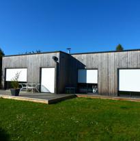 Installation bardage bois maison rennes