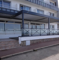 garde-corps-pergola hôtel en Bretagne