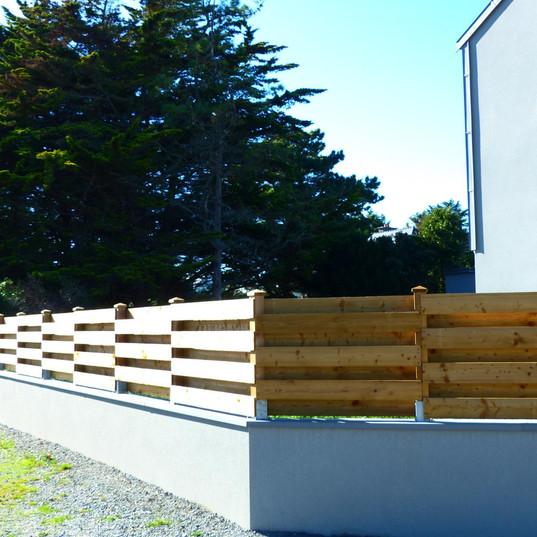 Pose d'une clôture à Pacé en Ile-Et-Vilaine